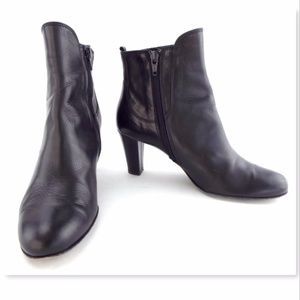 AGL Leather Round-Toe Booties very cheap price fake sale online An6PBjW